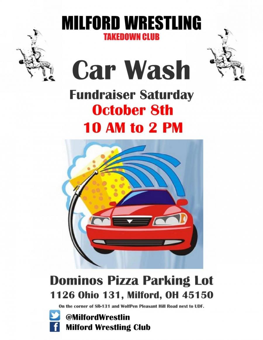 Car Wash Fundraiser For Milford Wrestling